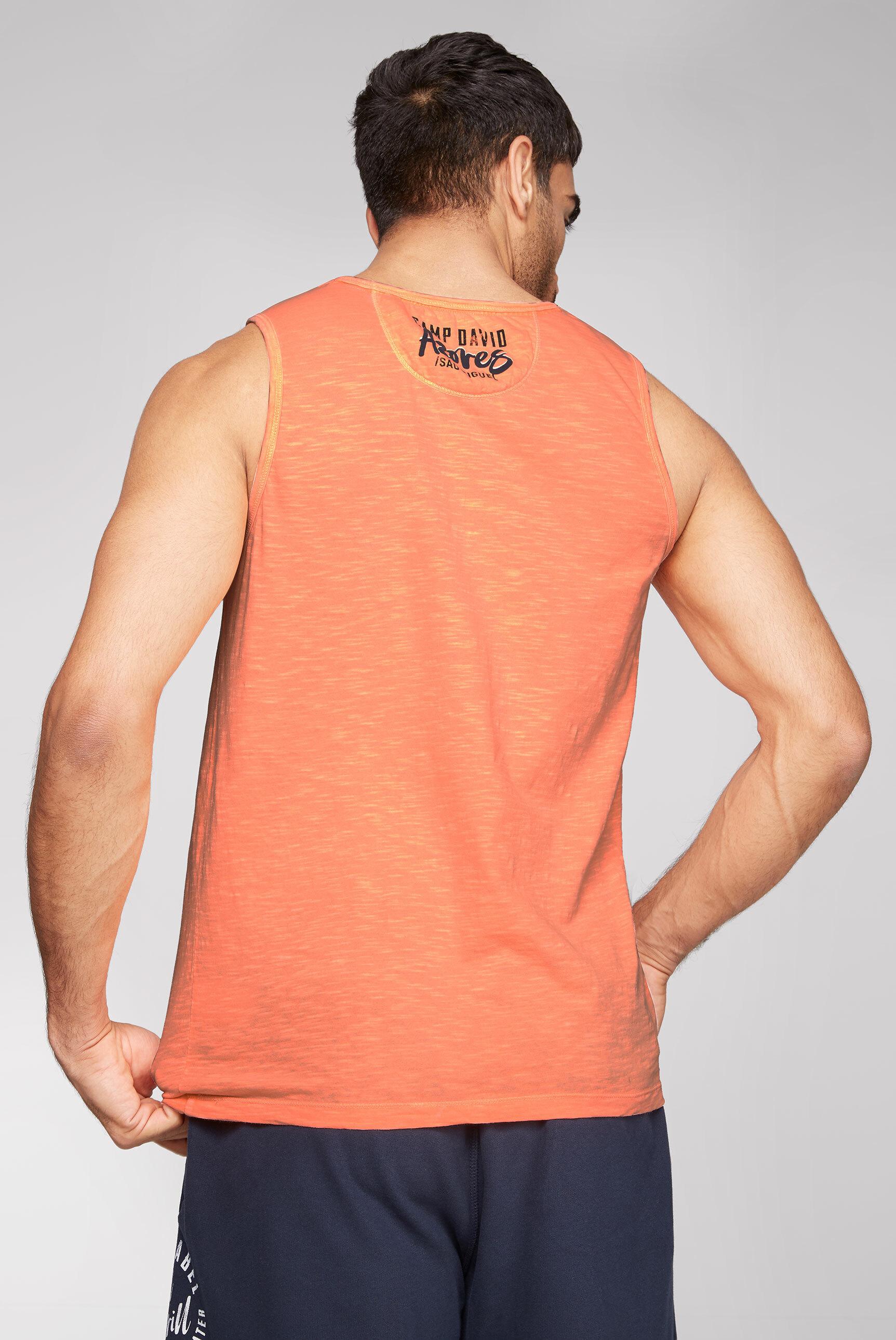 Muskelshirt mit Logo Print und Patches