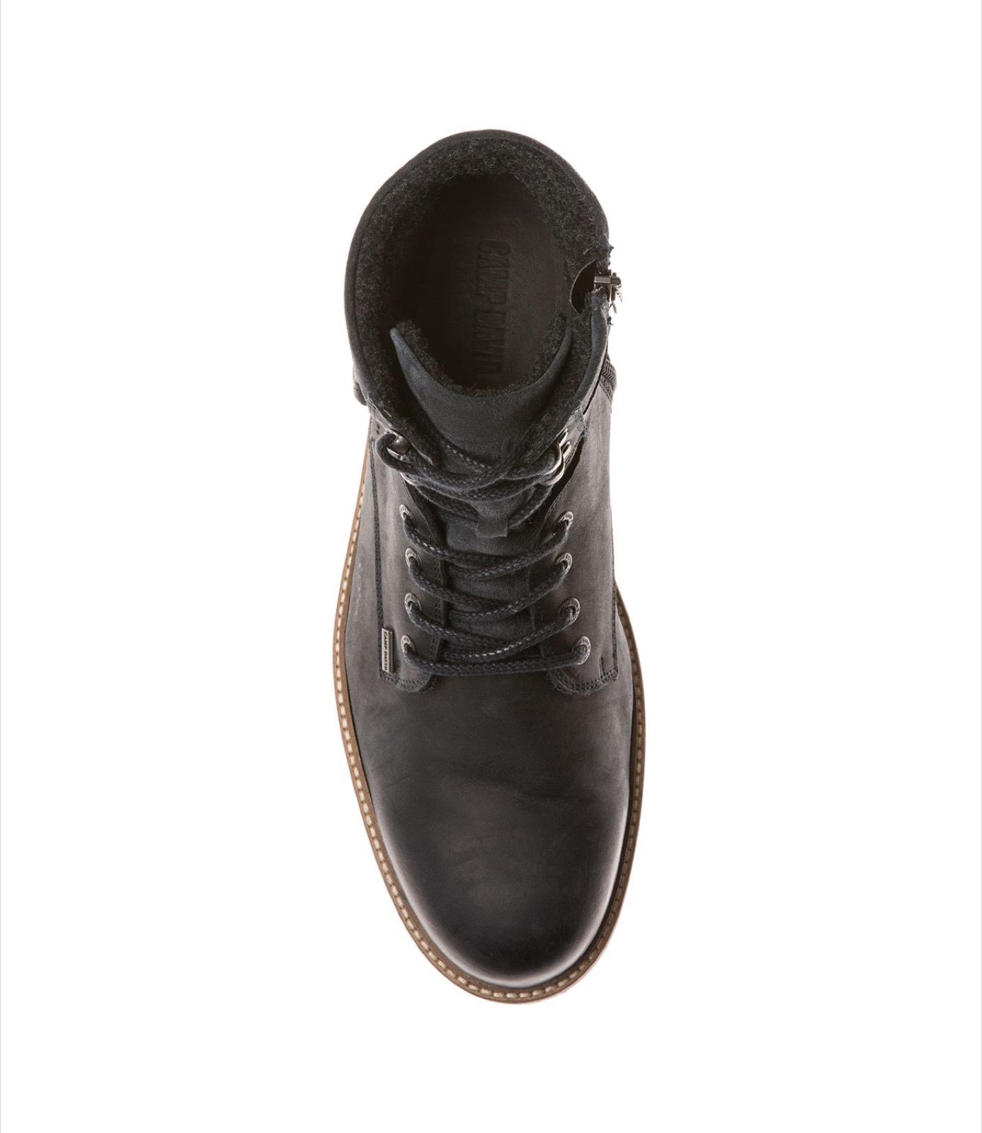 Premium Leder-Stiefel mit Logo-Applikation