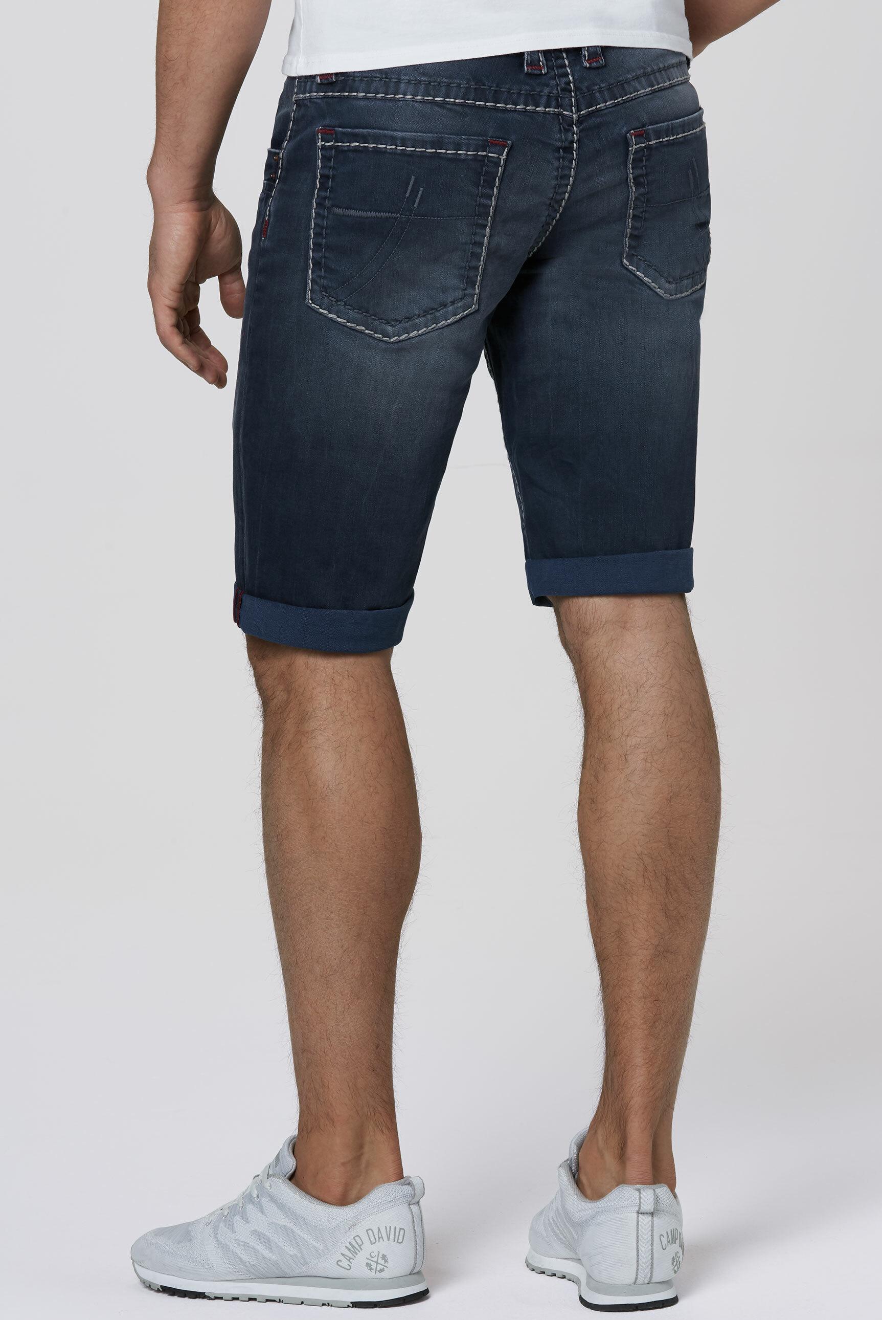 Skater Shorts NI:CK mit breiten Steppnähten