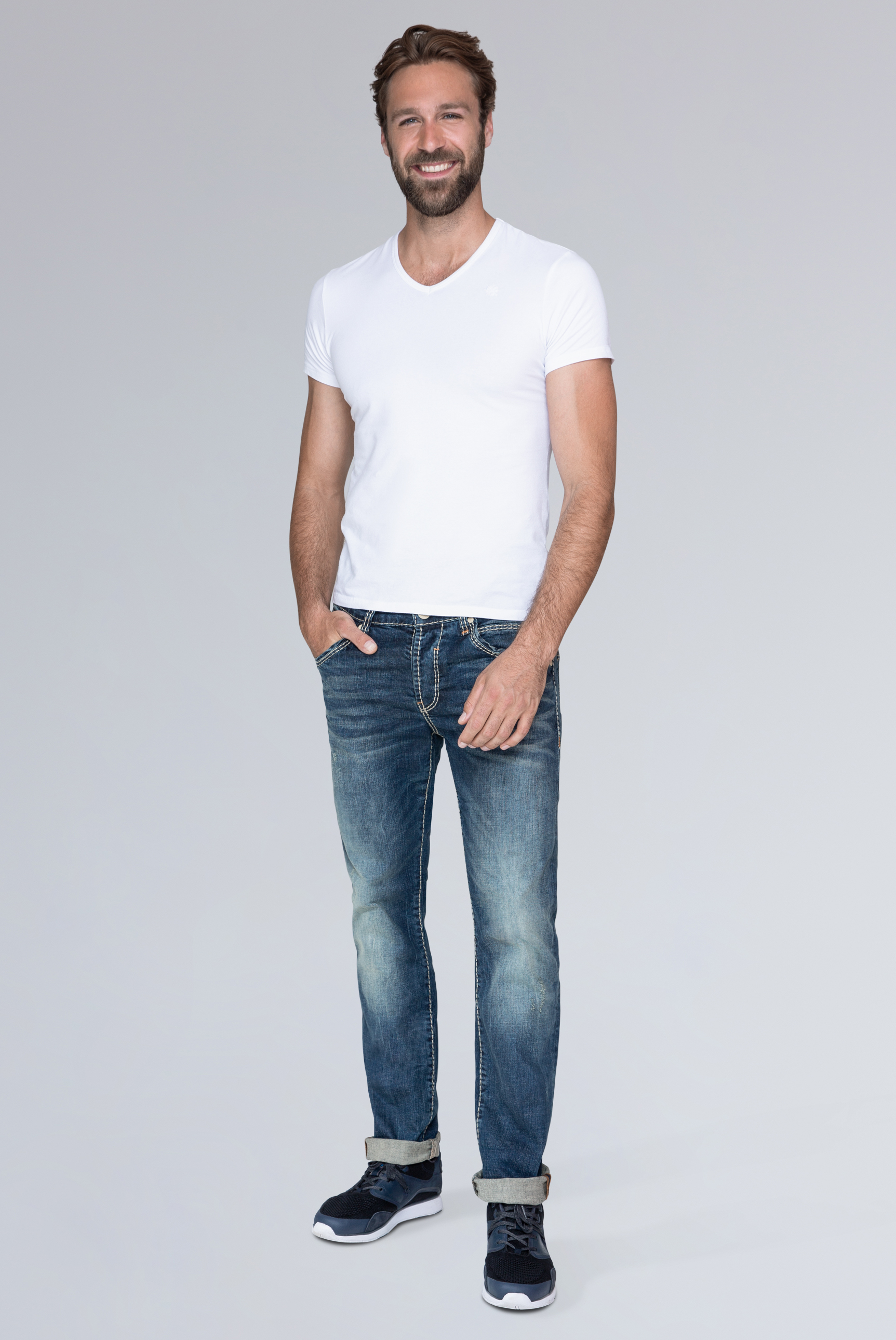 Slim Fit Jeans RO:BI mit Vintage-Optik