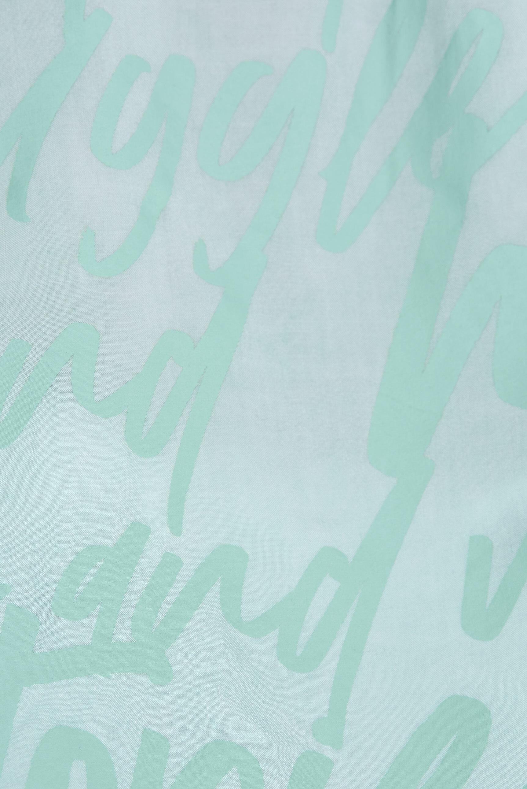 Ärmellose Bluse mit Wording Prints