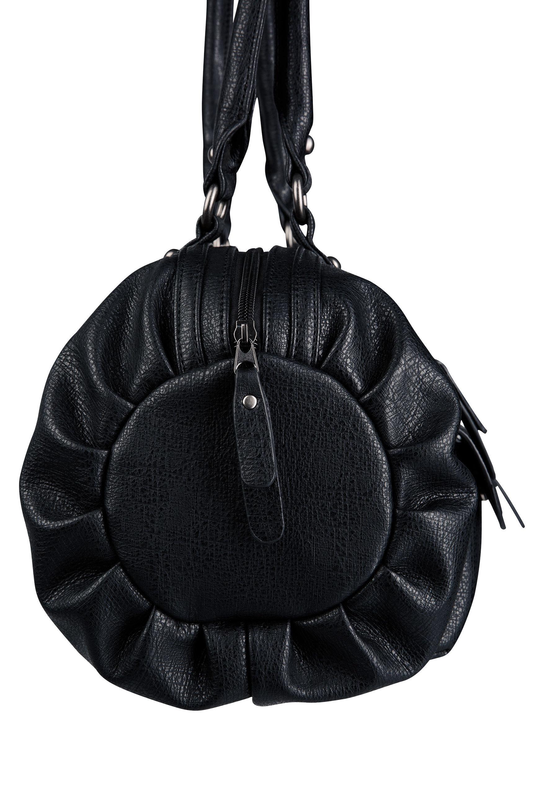 Bowling Bag aus strukturiertem Kunstleder