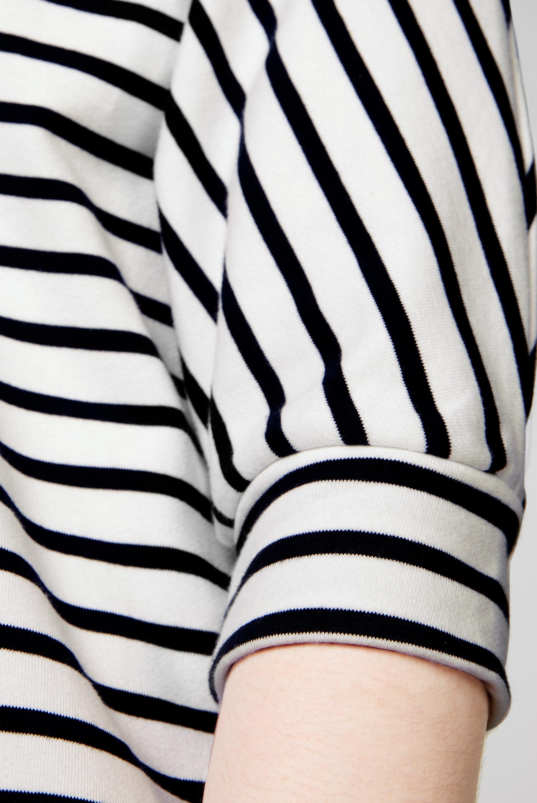 Gestreiftes Sweatshirt mit Pailletten-Logo