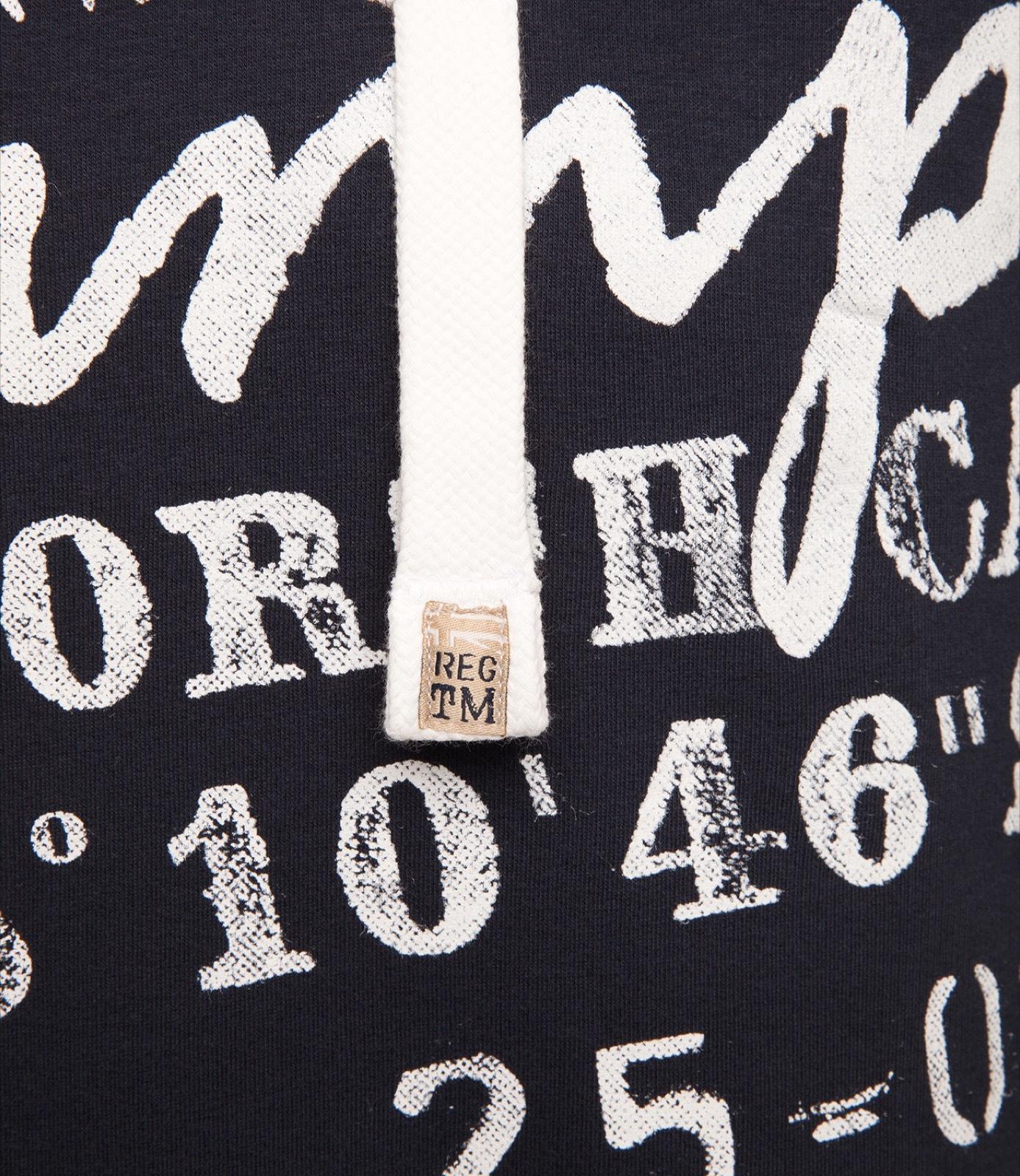 Hoodie mit beidseitigem Used Print