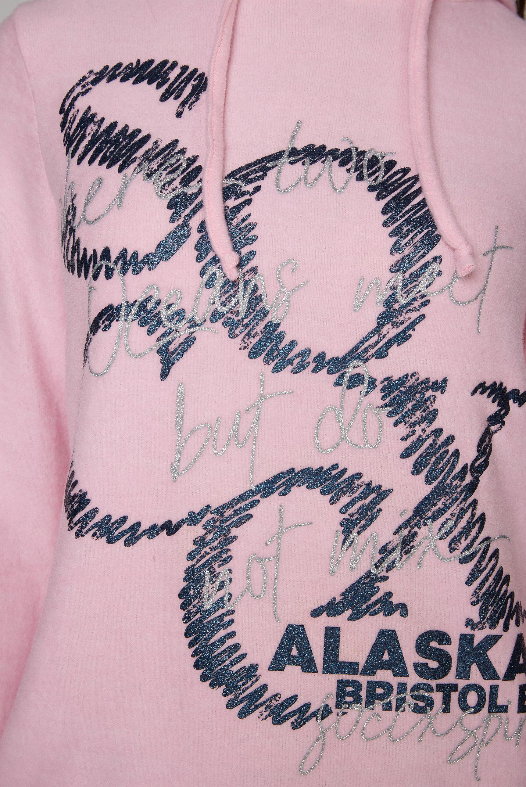 Kapuzenpullover mit Logo Glitter Print