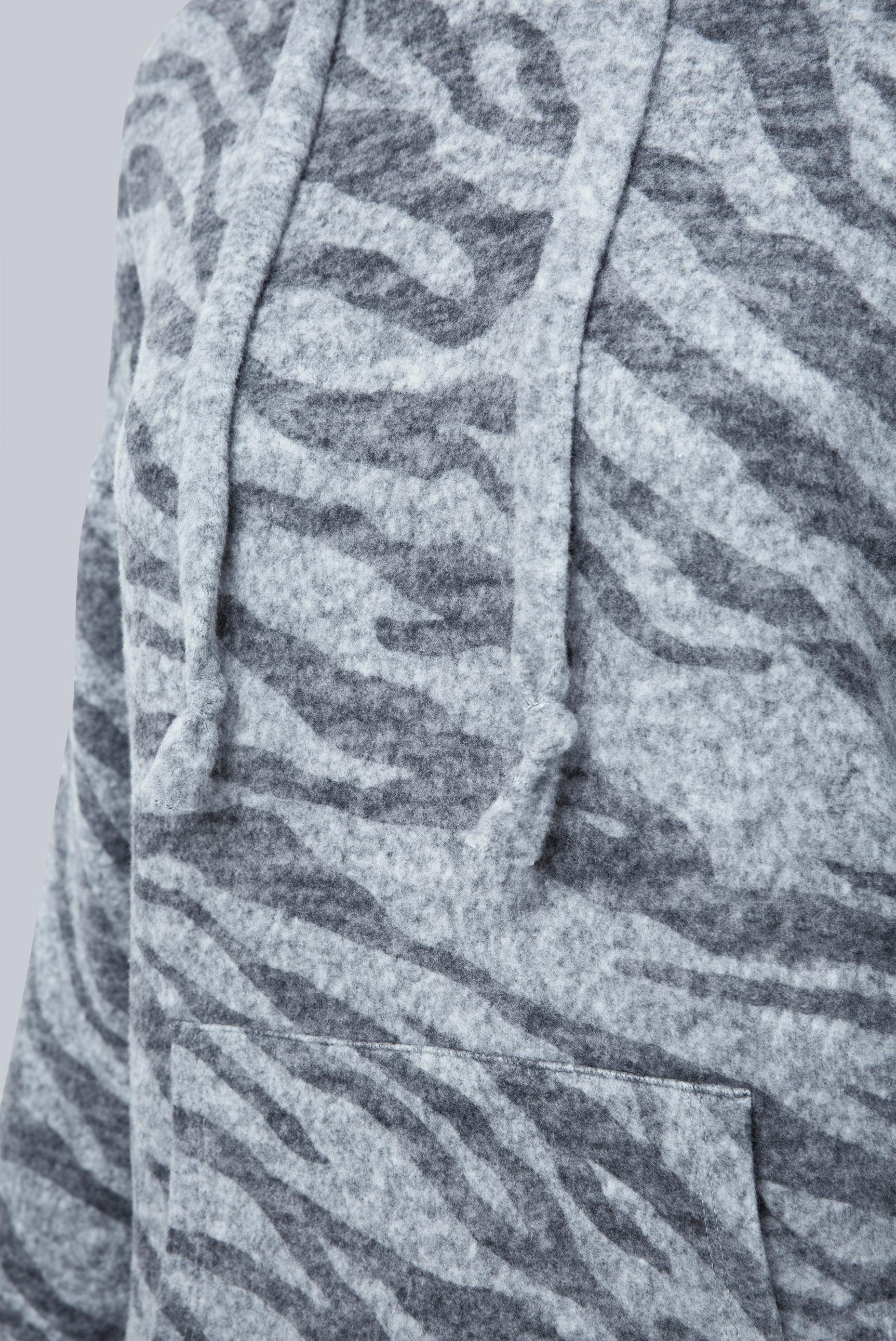 Kapuzenpullover mit Zebramuster
