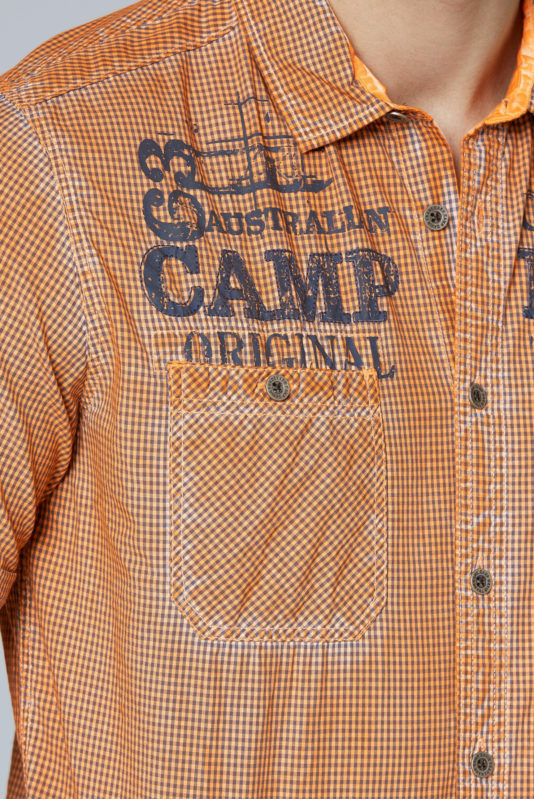 Karohemd mit Used-Färbung und Taschen