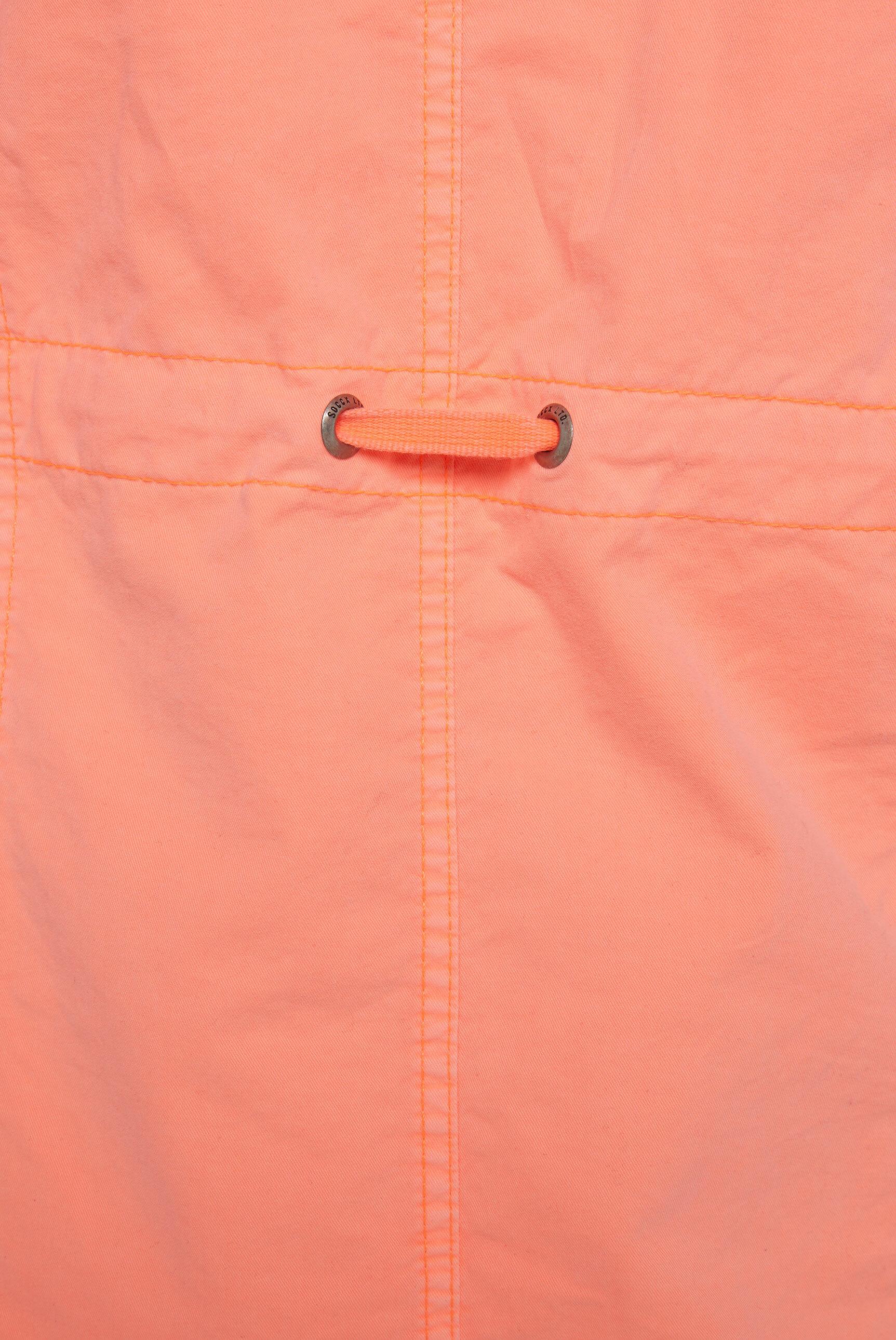Leichter Parka mit Kapuze und Taillenband