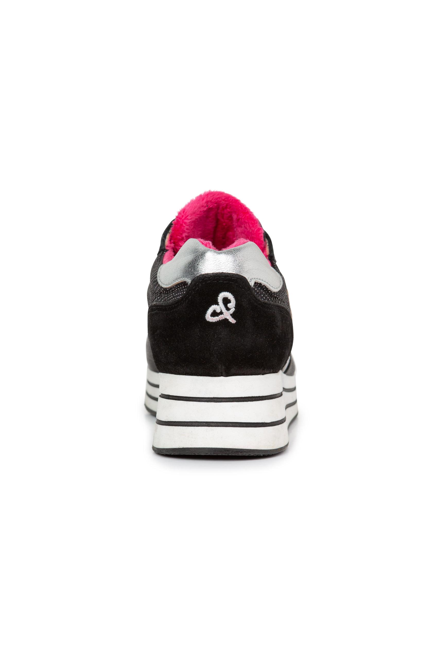 Plateau-Sneaker mit Metallic-Effekten