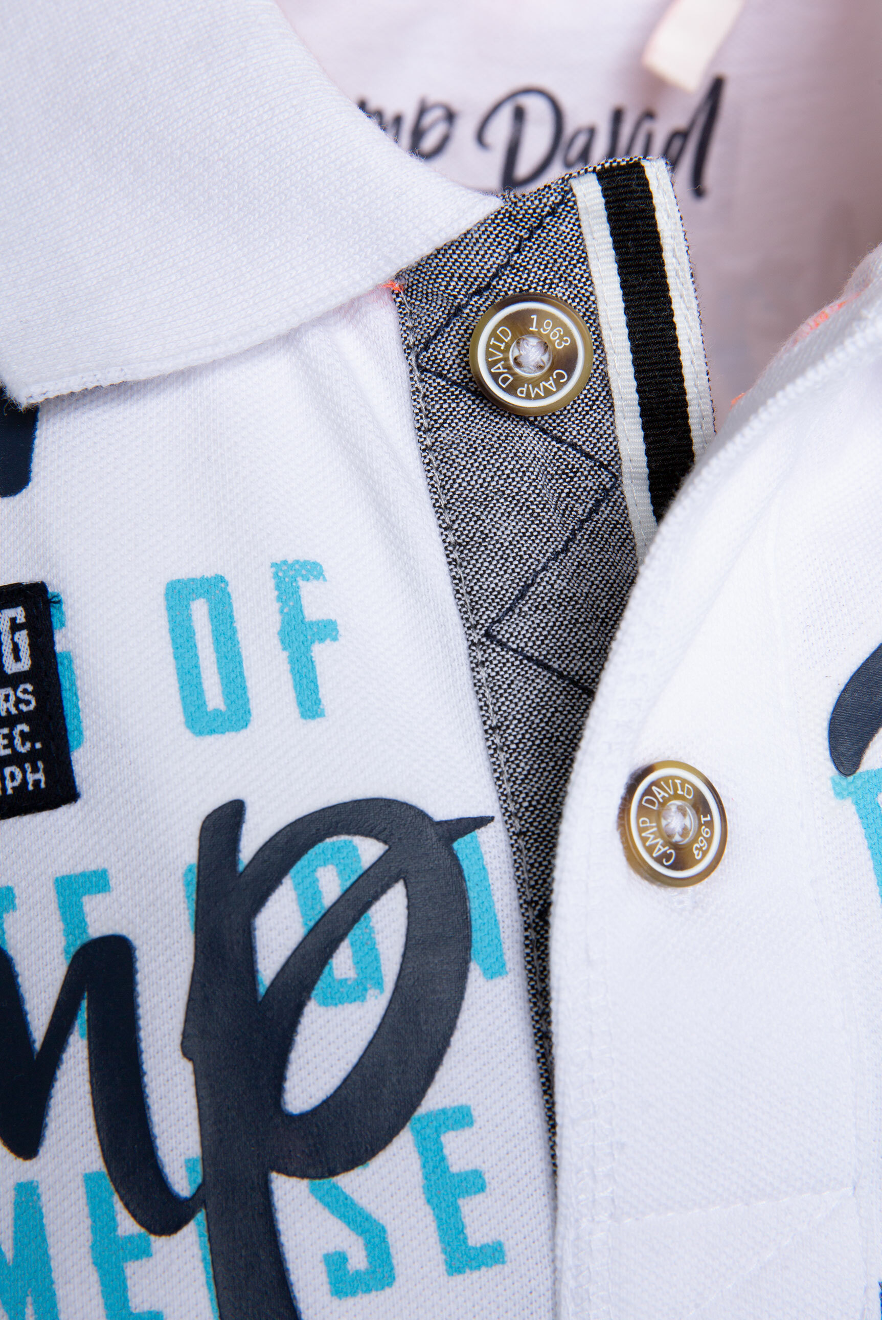 Poloshirt aus Pikee mit XL-Artwork