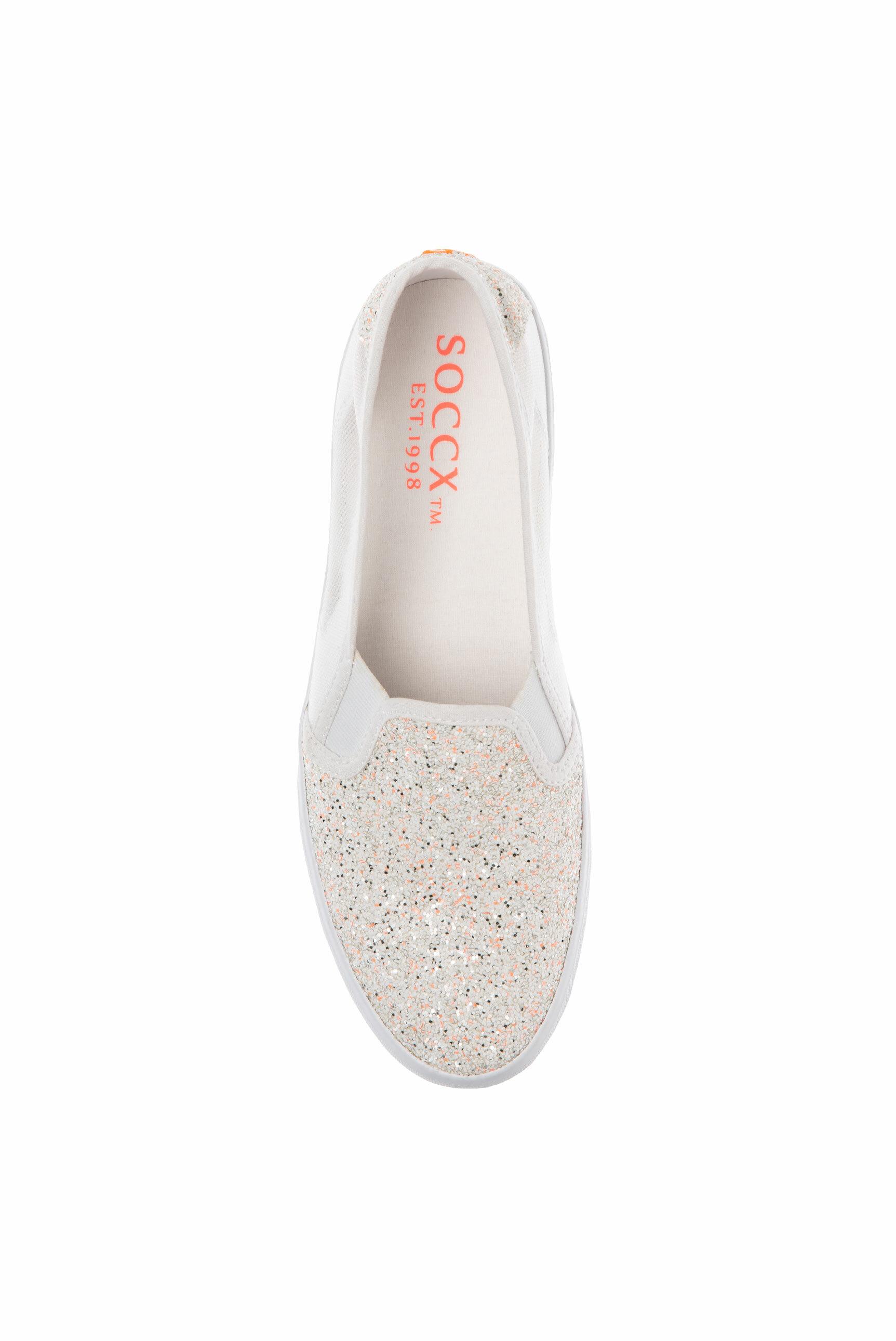 Sneaker im Ballerina-Stil mit Mesh-Einsätzen