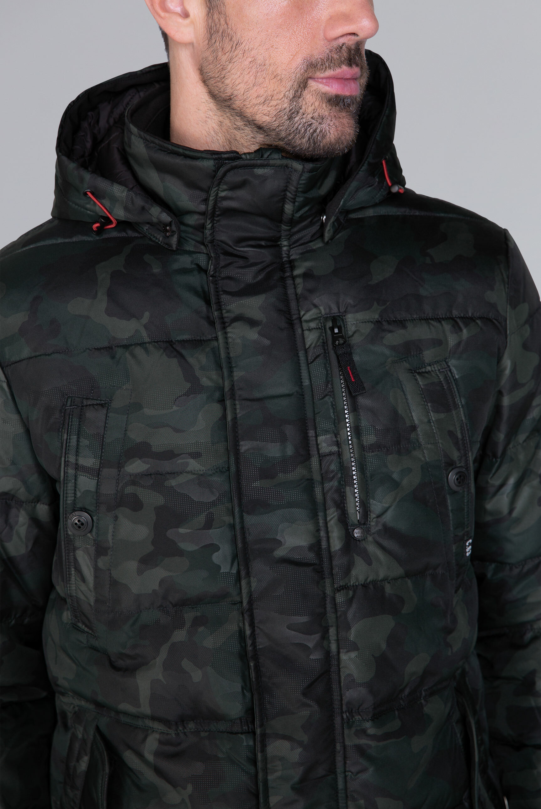 Stepp-Parka mit All-Over-Print
