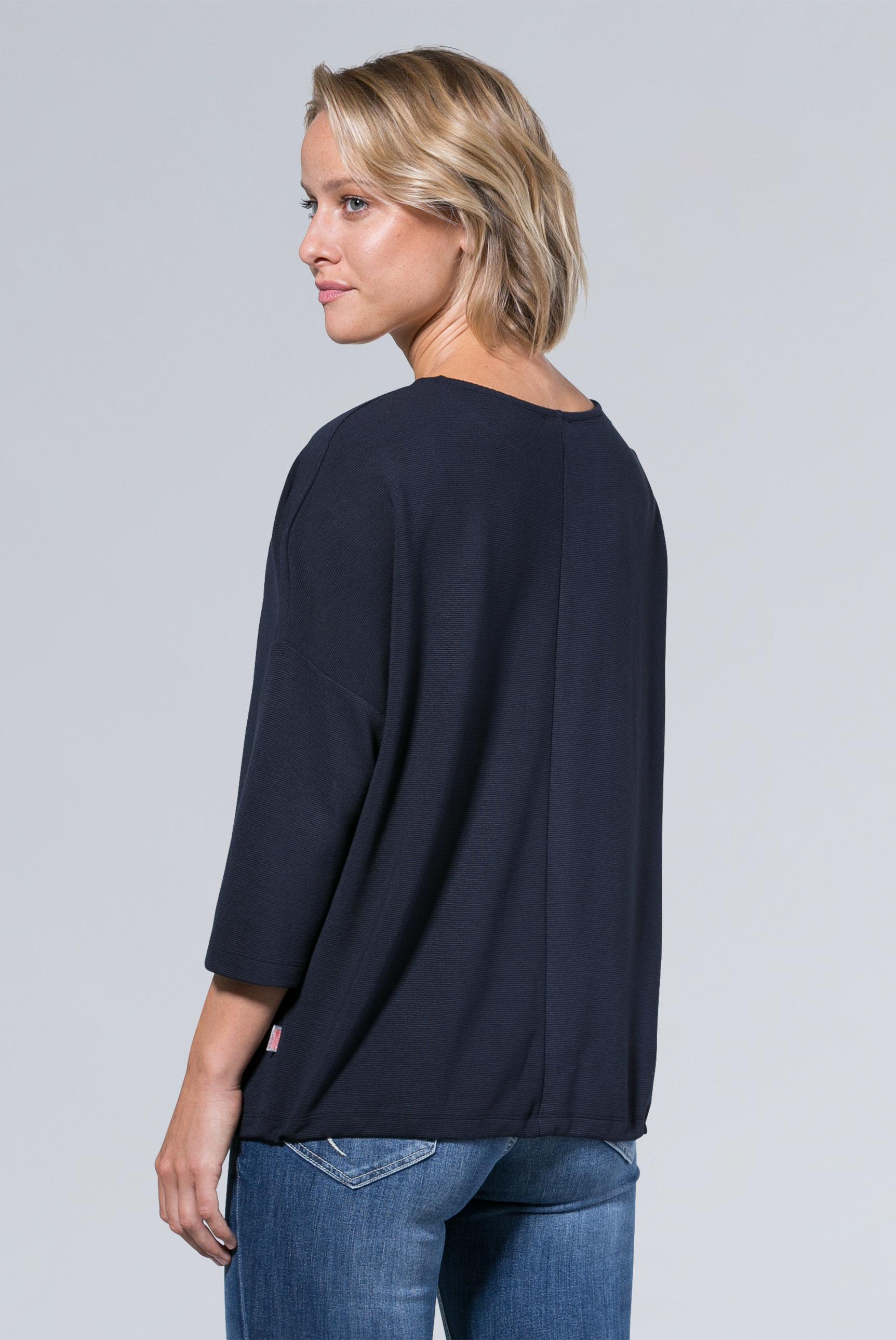 Strukturiertes Sweatshirt mit 3/4-Arm