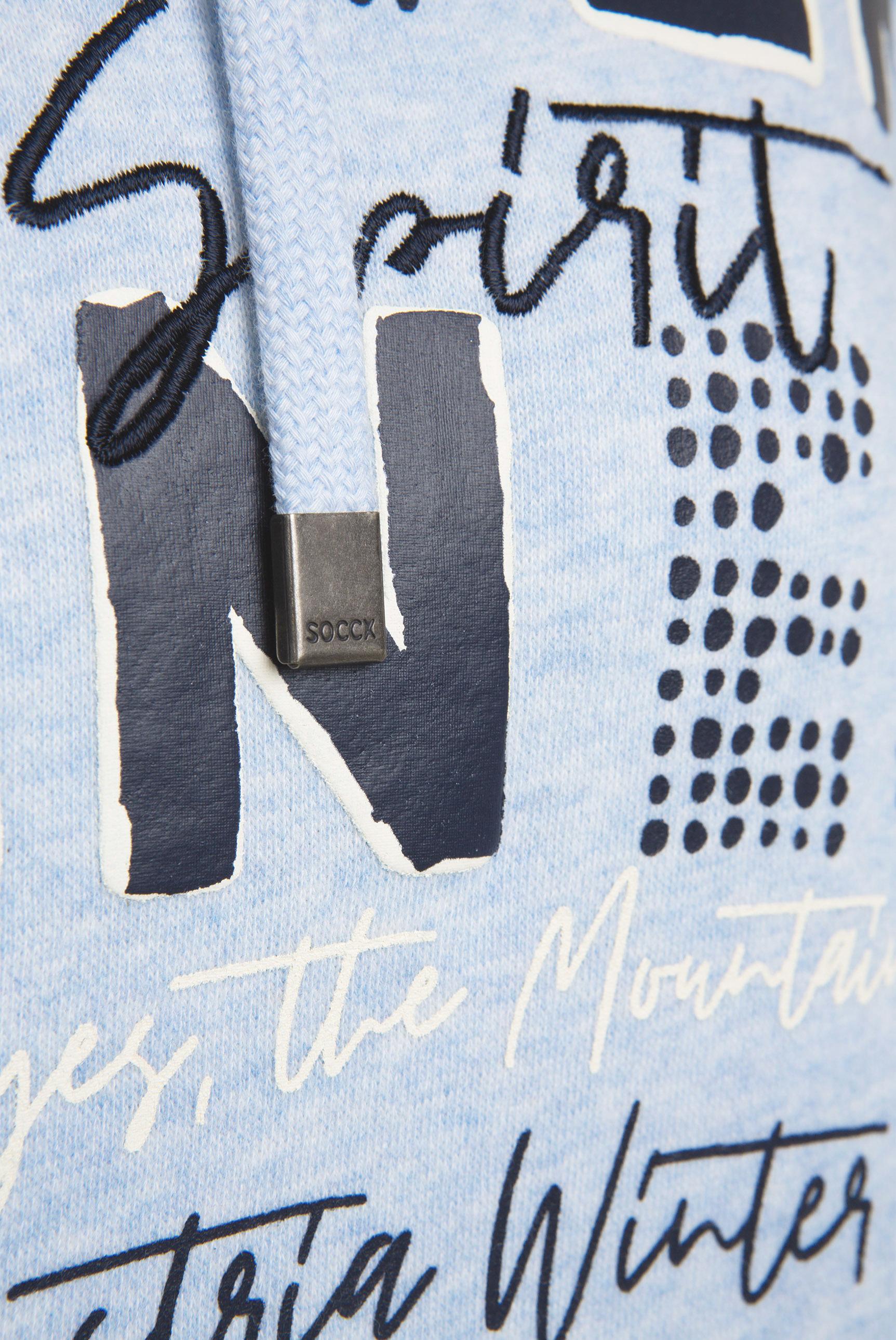 Sweatshirt mit Ripp-Kapuze und Artwork