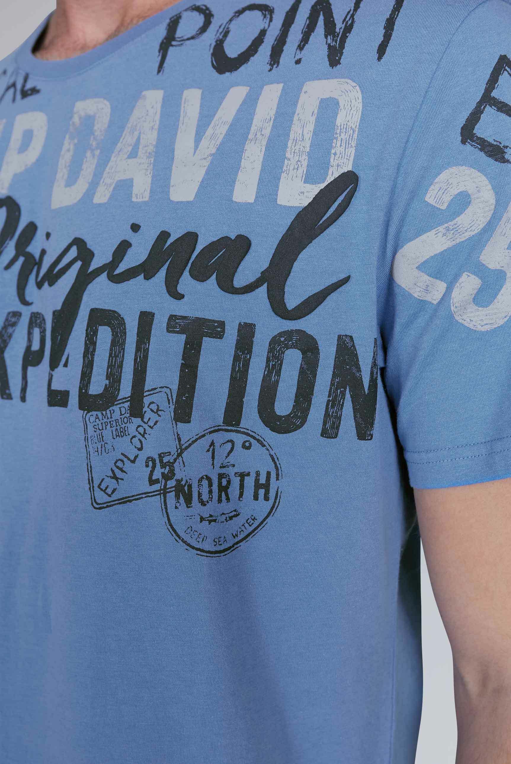 T-Shirt mit Logo Artwork in Used-Optik