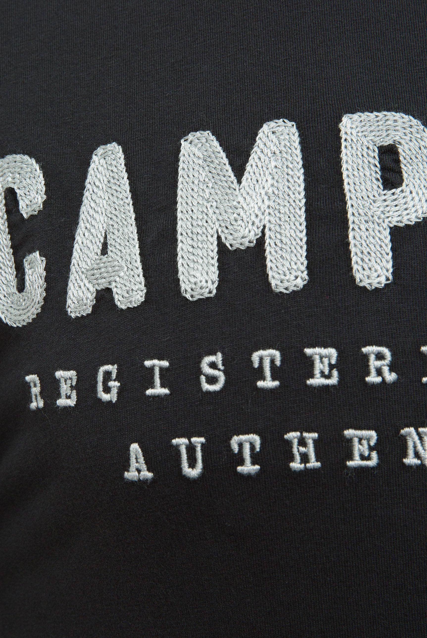 T-Shirt mit Round Neck und Logo-Stickerei