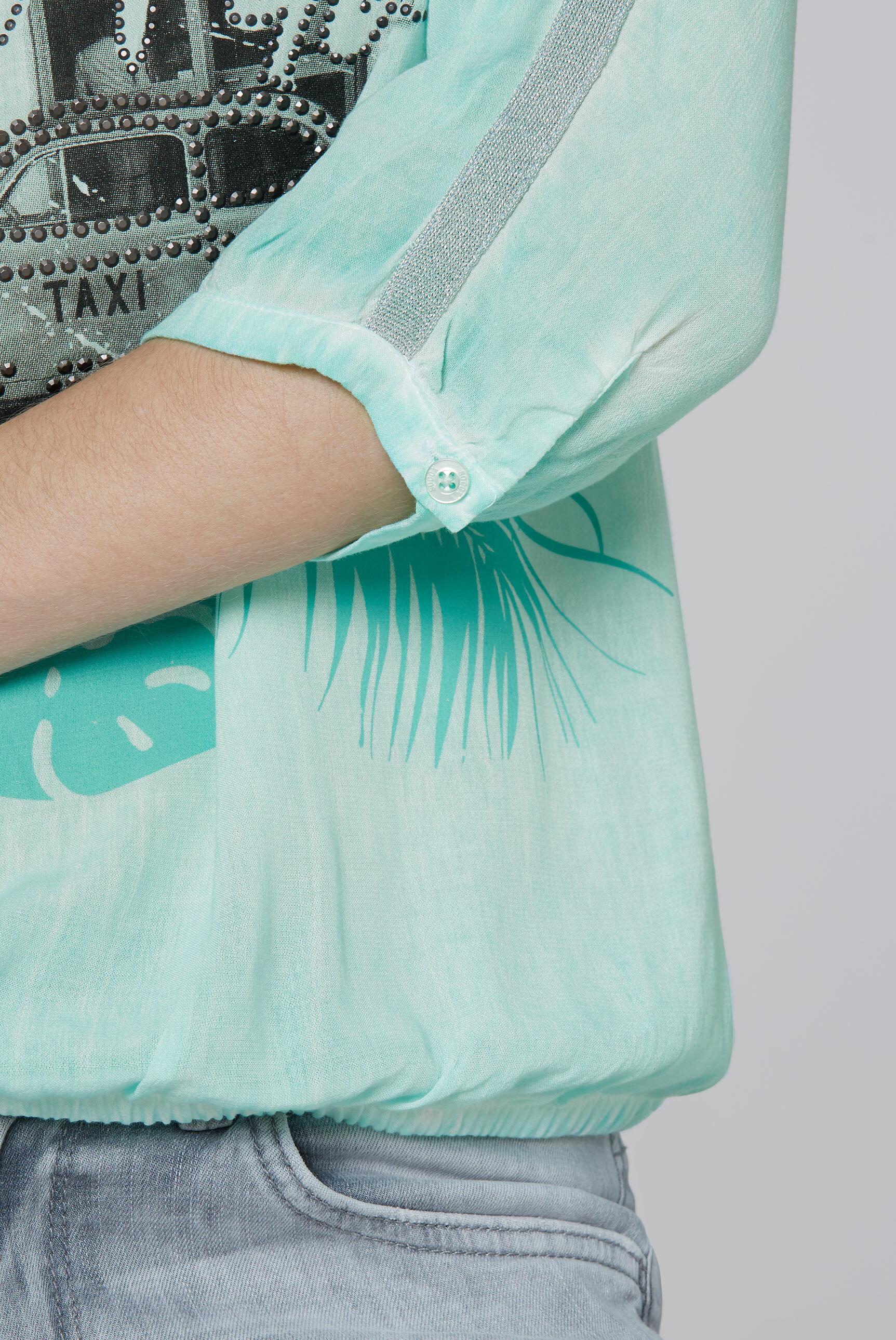 Blusenshirt mit 3/4-Ärmeln und Artwork