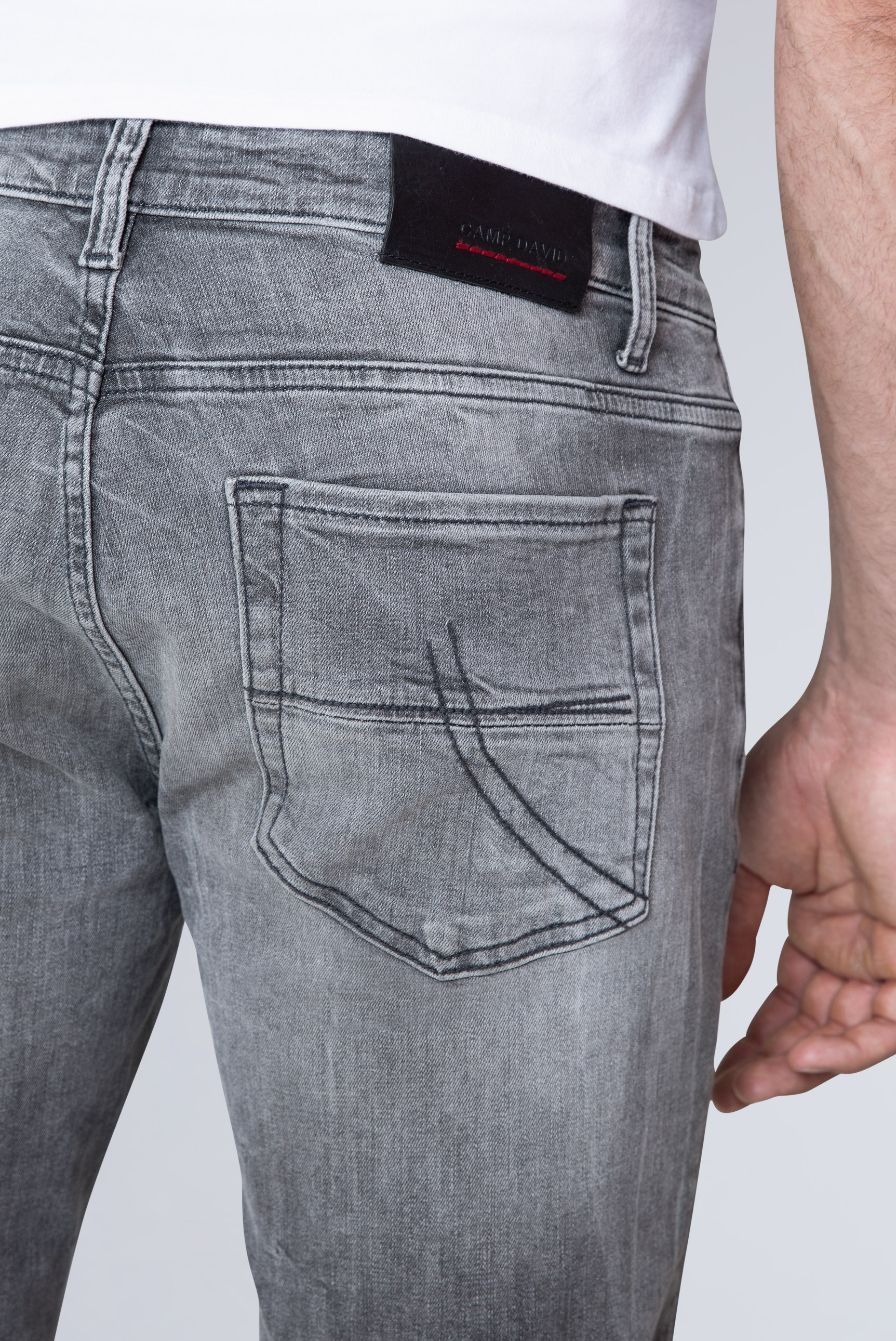 Five Pocket Jeans NI:LS mit Bleaching-Effekten