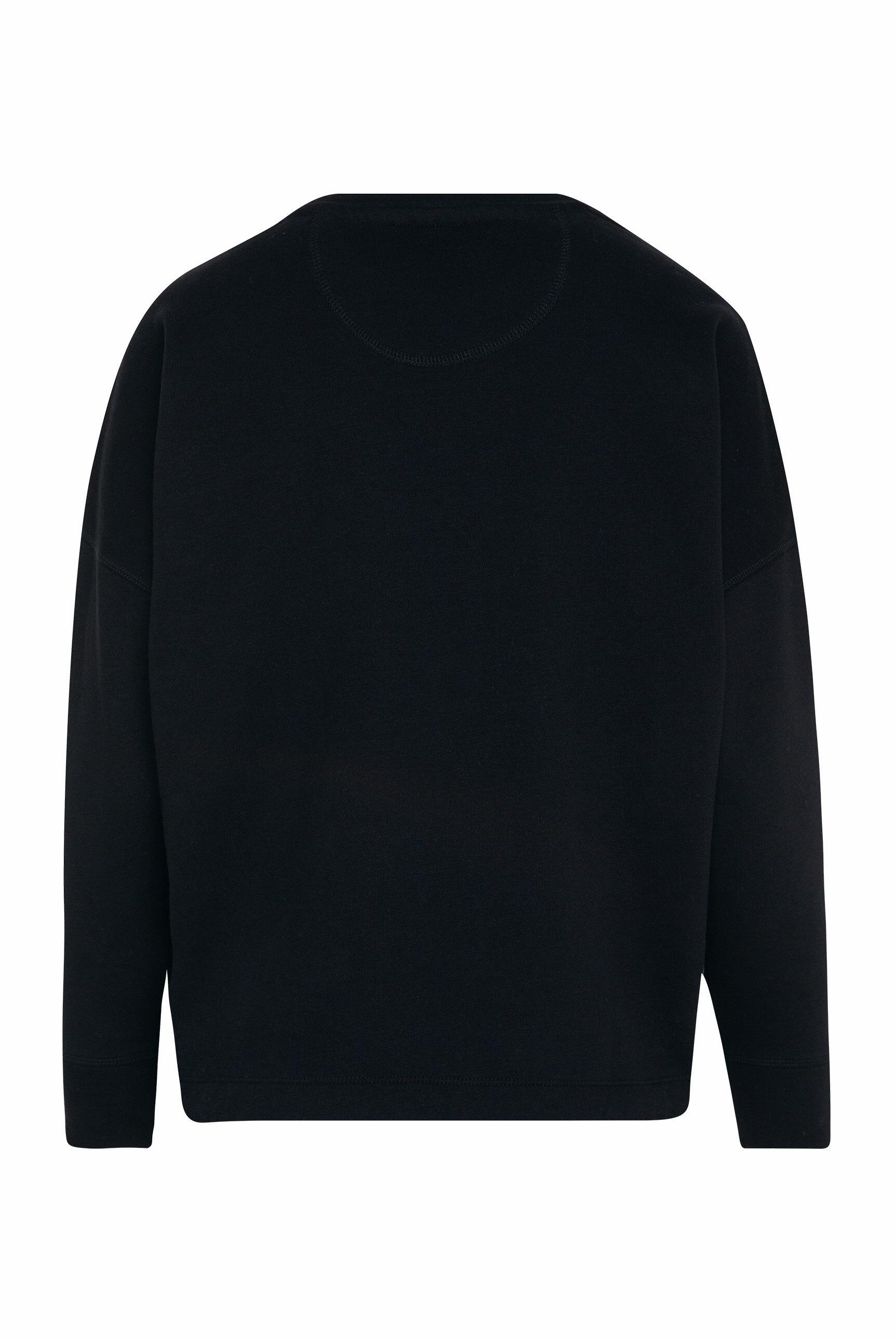 Logo-Sweatshirt mit Bindeband im Saum