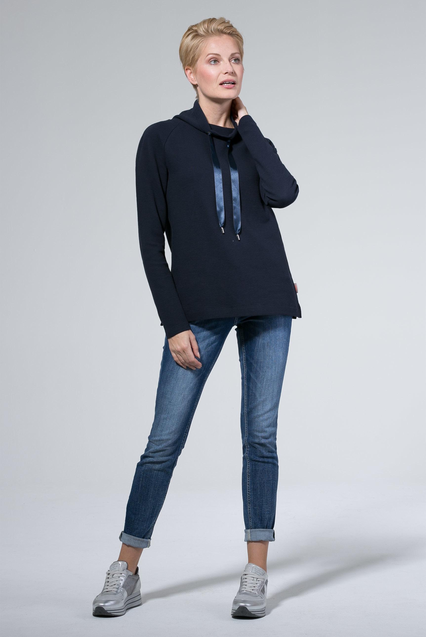 Raglan-Shirt mit hohem Kragen