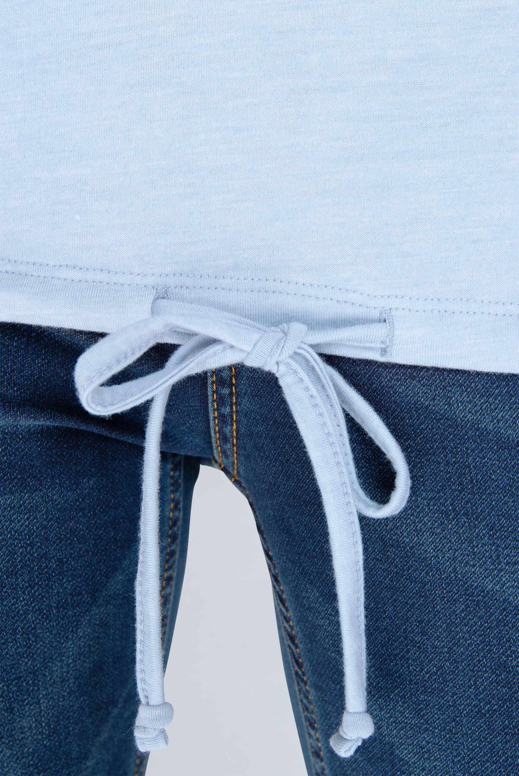 Serafino-Shirt mit Ausbrenner-Verlauf
