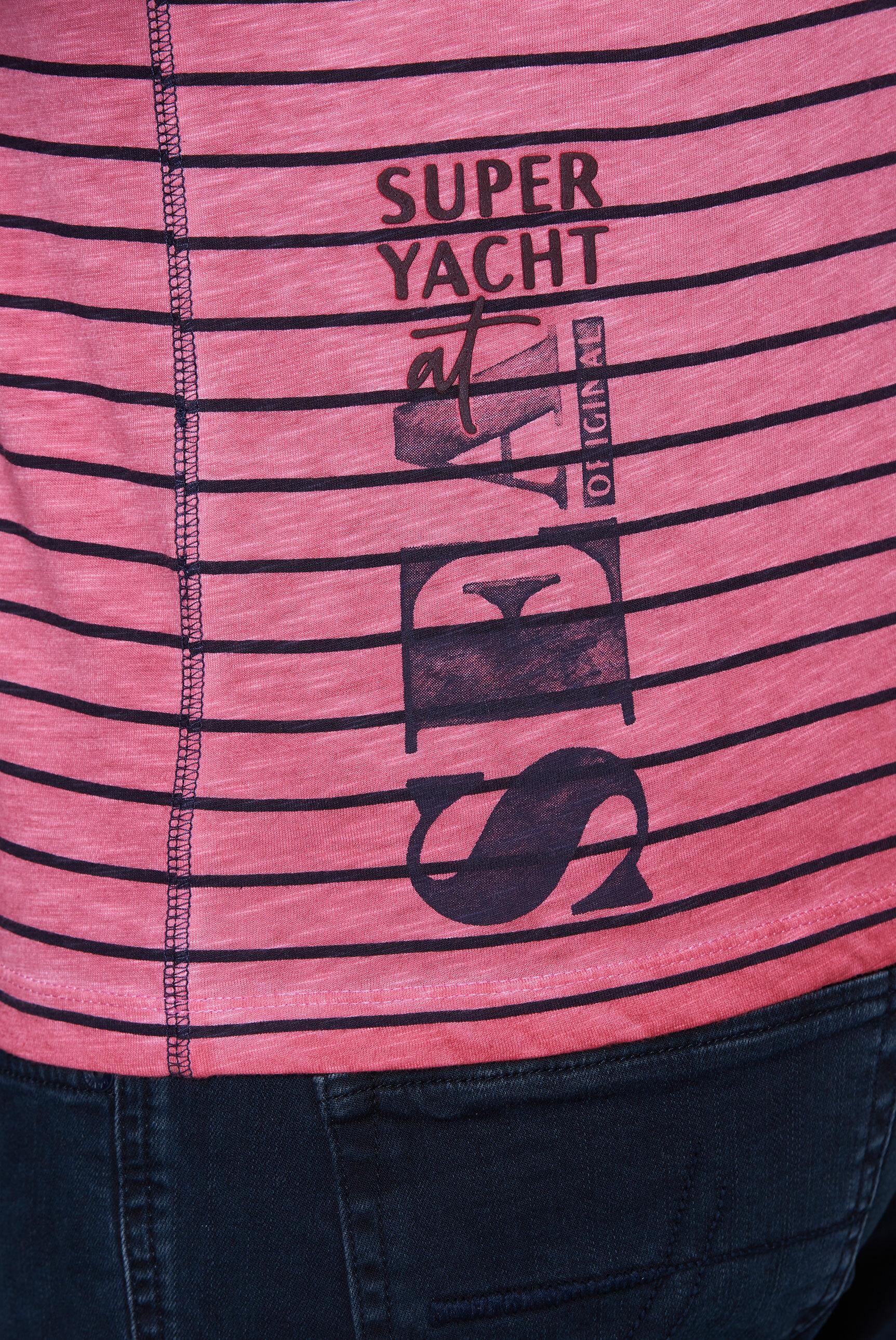 Streifenshirt mit Print Artworks