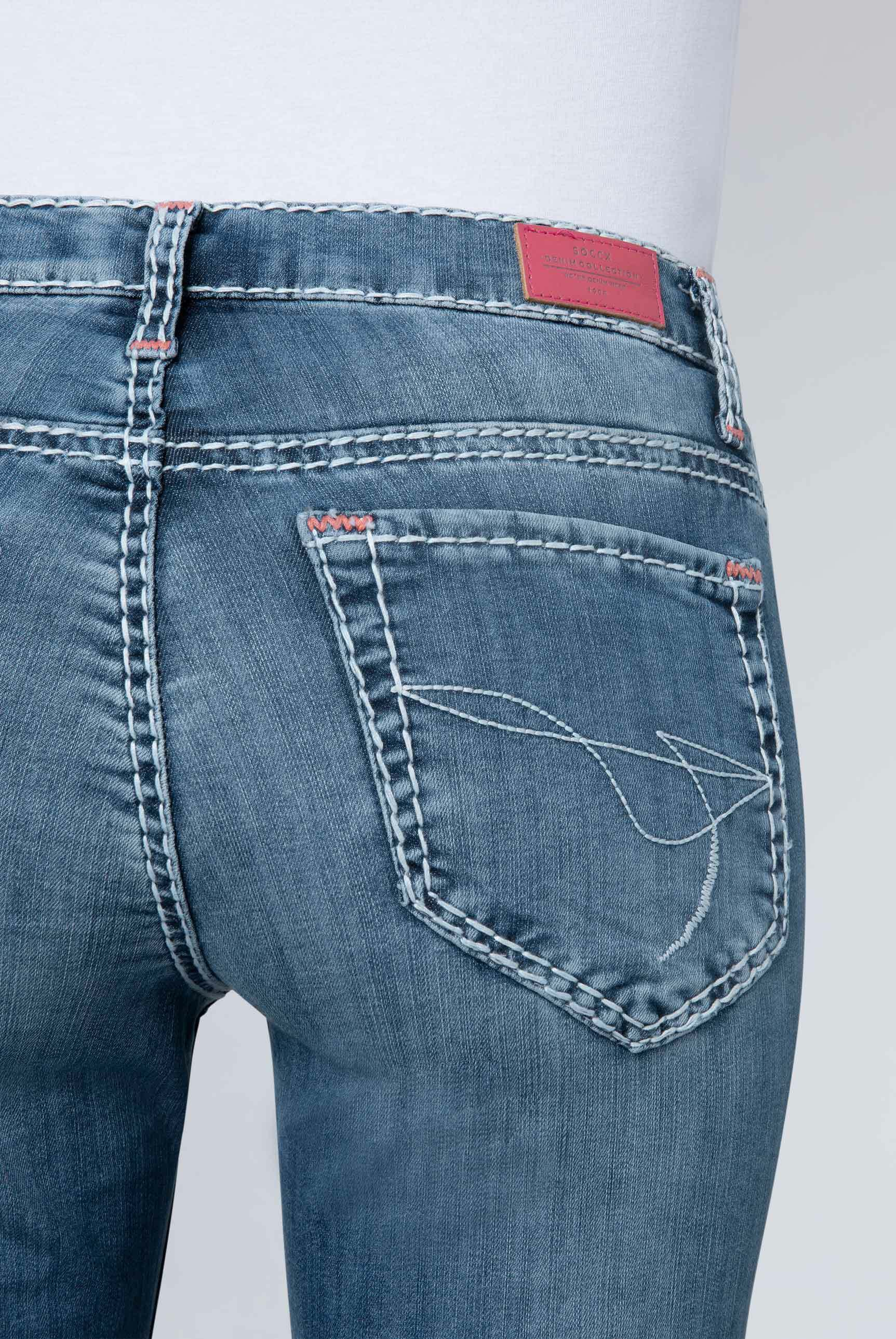 Stretch-Jeans HE:DI mit Vintage Stone Waschung