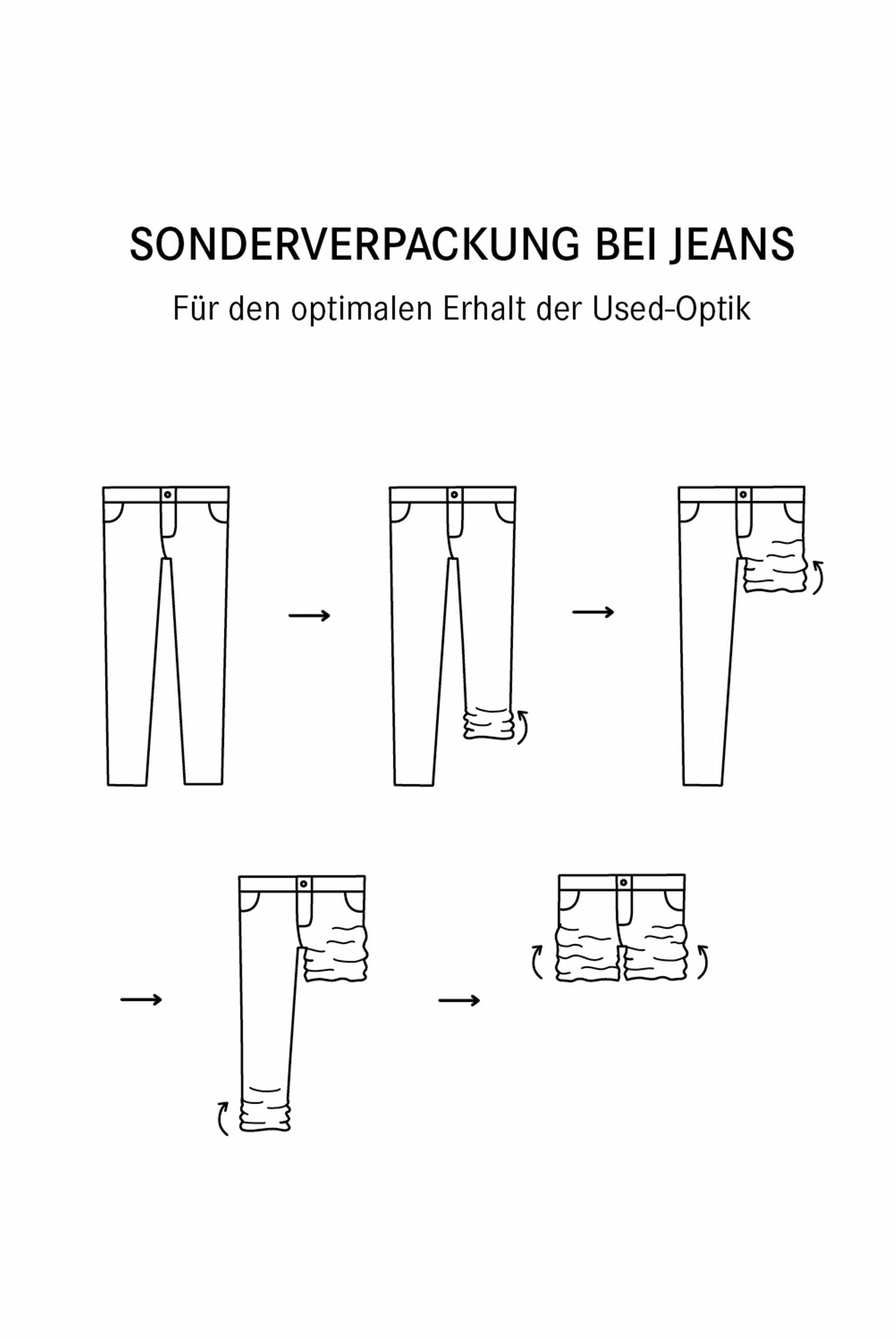 Used-Optik und leichtem Boot Cut Jeans NI:CO
