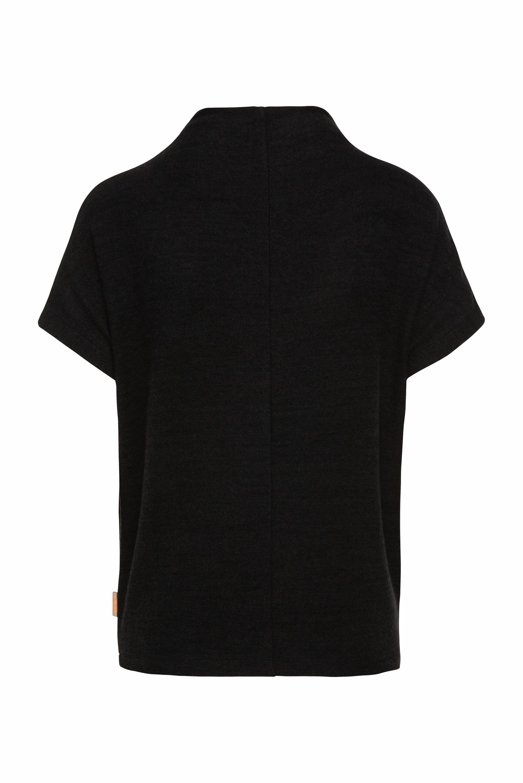 Boxy-Strickshirt mit Mock-Kragen