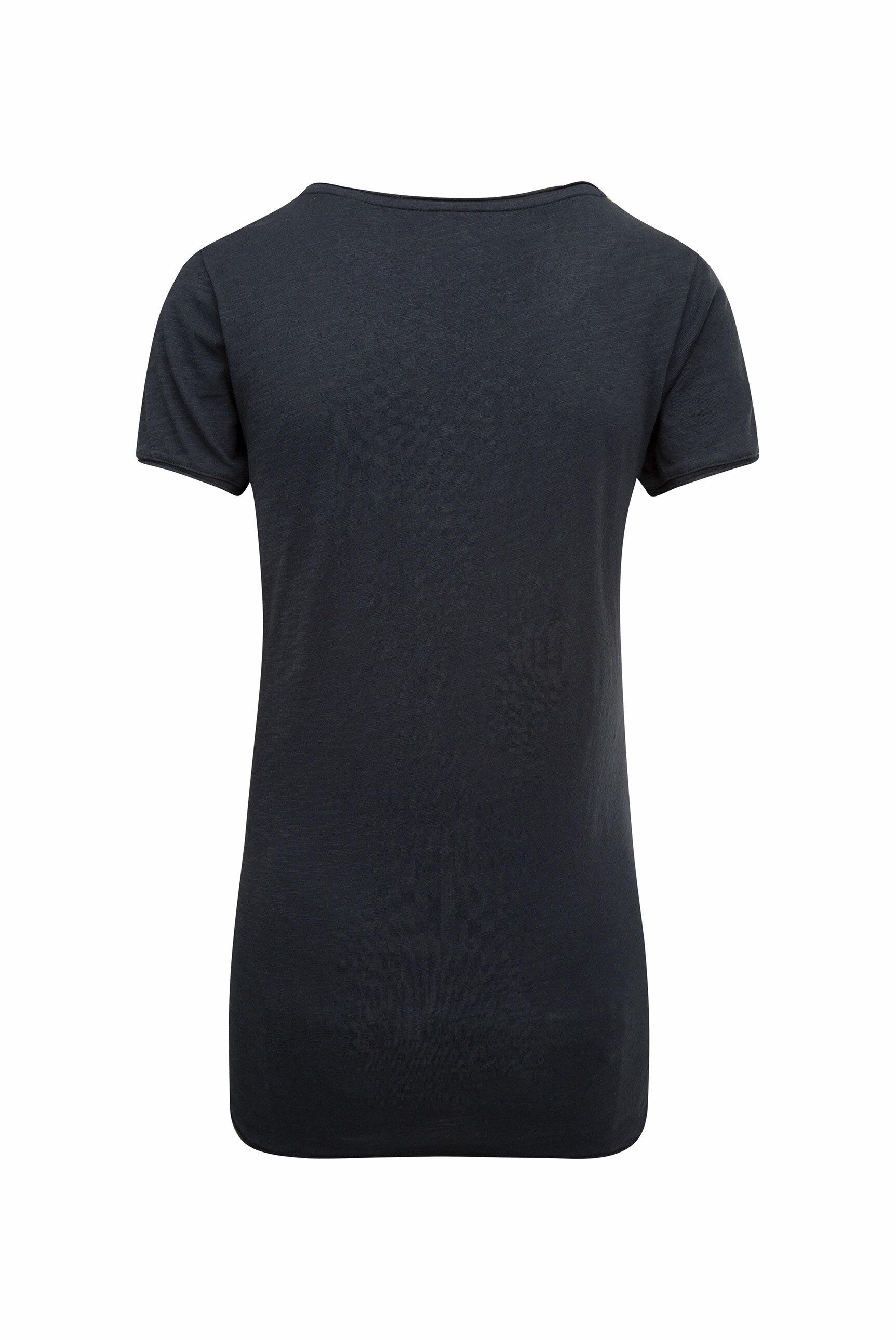 T-Shirt mit Used-Kanten und Artwork