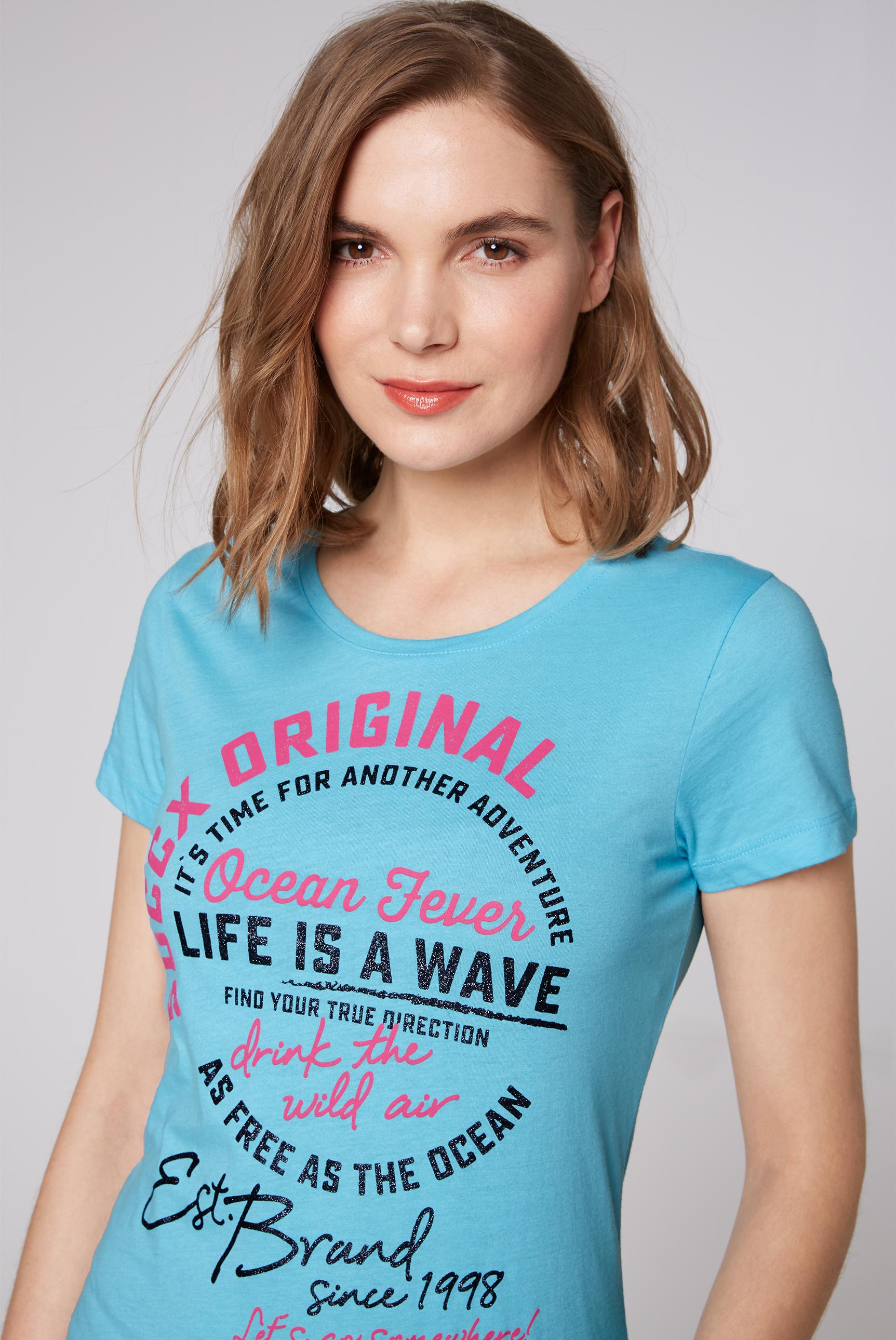T-Shirt Rundhals mit Aufdruck