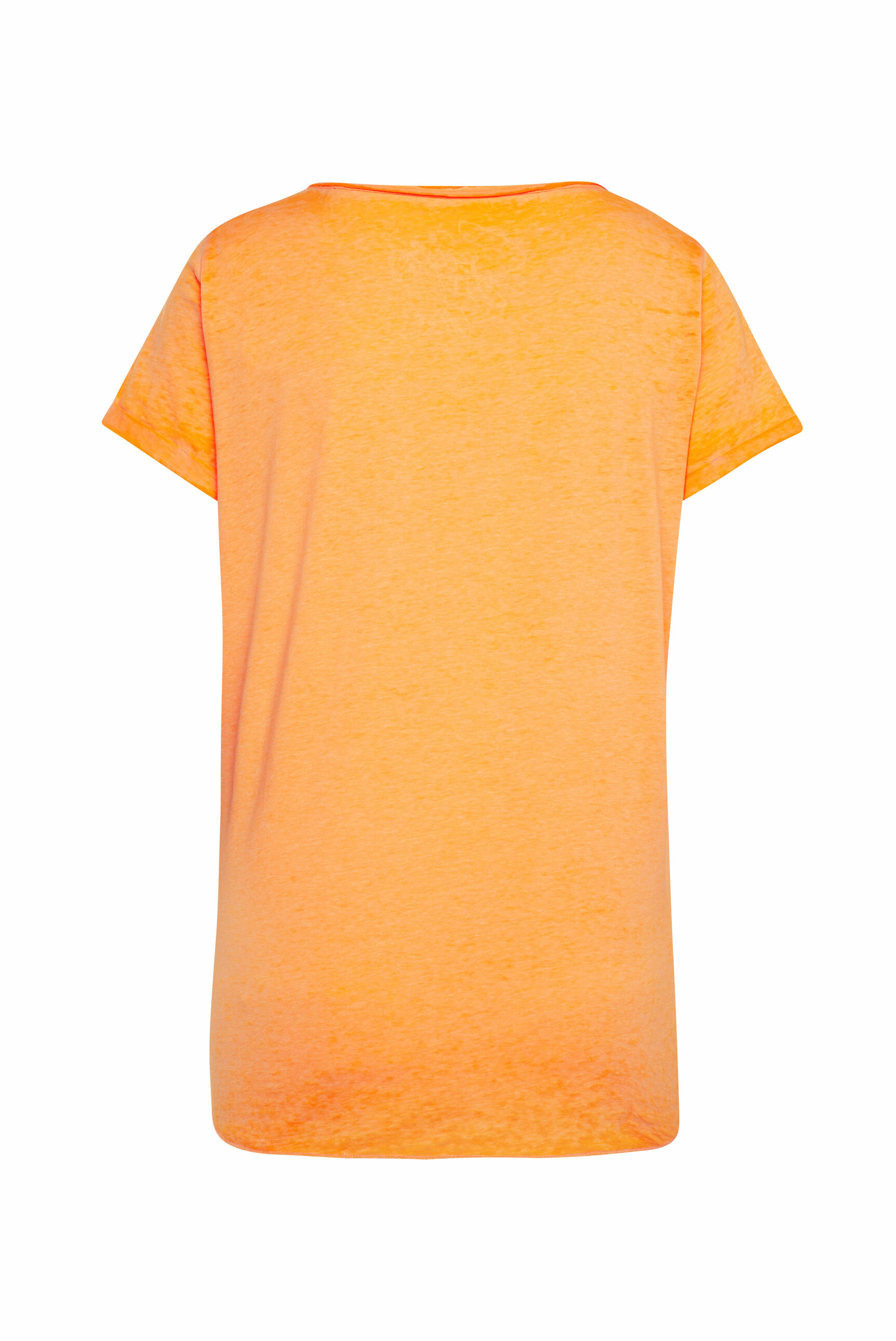T-Shirt zum Knoten mit Ausbrennern und Artwork